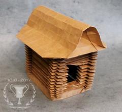Russian hut (Andrey Ermakov) Tags: origami olympiad origamiolympiad ioio ioio2017 crease creasepattern fold corrugation tessellation russian russia hut russianhut ermakov andreyermakov