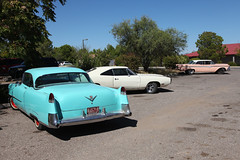 Nice parking lot (twm1340) Tags: 1954 cadillac coupe deville 1968 dodge charger 500 1959 edsel cottonwood az