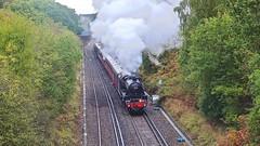 Epsom Steam (Deepgreen2009) Tags: railway track epsom swanage rain climbing power steam uksteam
