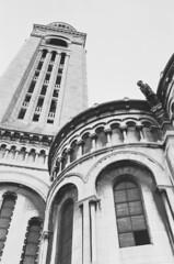 Sacré-Cœur, Montmartre (Cogitozoa) Tags: architecture gargoyle lookup blackandwhite bw sacrécœur montmartre paris monochrome analogue analog film 35mm pentax kodak colorplus expired ishootfilm staybrokeshootfilm filmisnotdead wander wanderlust travel