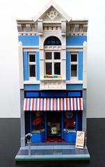 Lego Surf & Ski Shop/Travel Agency (elizabeth nevermind) Tags: lego modular store shop travel creator town city surf ski victorian gothic building
