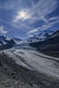 Robson Glacier (robertdownie) Tags: mountains river blue sun rock daytime rocks bright white snow mountain ice sky clear alps rockies canadian peaks rocky alpine crisp scree high clouds canada british columbia glacier mt robson lateral moraines