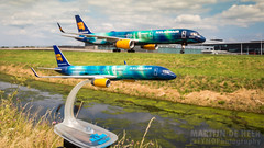 TF-FIU (tynophotography) Tags: ams eham schiphol amsterdam airport northern lights model icelandair 757200 tffiu 757 752 hekla aurora borealis livery boeing