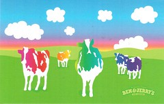 Postcrossing US-4962399 (booboo_babies) Tags: cows field country colorful bluesky benjerrys advertisement icecream benjerrysicecream postcrossing