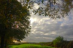 Autumn Clouds (Dave Roberts3) Tags: wales gwent newport alltyryn bench autumn fall clouds oak shadows hilltop hills mountains