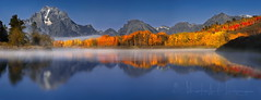 """Let us try to recognize the precious nature of each day."" (PhotoArt Images) Tags: usa grandteton jacksonhole fall autumn mountains oxbowbend reflections nikond810 panorama"