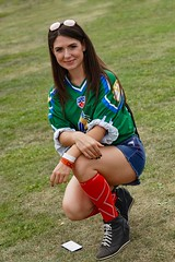Sasha (raisalachoque) Tags: grass portrait pretty green football shorts