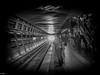 Washington - Underground (michaelhertel) Tags: washington metro bw sw monochrome nik silvereffex people travel usa