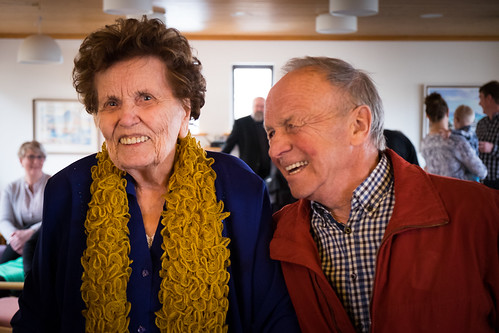 """Nanna Franklínssóttir og Einar Hermannsson í 100 ára afmæli hennar • <a style=""""font-size:0.8em;"""" href=""""http://www.flickr.com/photos/22350928@N02/37312233134/"""" target=""""_blank"""">View on Flickr</a>"""