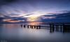 Mentone Groyne Sunset 1 (Clyde Scorgie Photography) Tags: seascape sea sunset cityscape clouds groyne iconic melbourne australia longexposure leesfilters beach ocean harbour