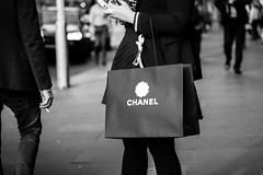 CHANEL (McLovin 2.0) Tags: street streetphoto chanel shopping style fashion monochrome bw blackandwhite sony a7s 85mm bokeh cigarette smoking smokes