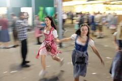 . (Fabian Schreyer // shootingcandid) Tags: dirndl munich motionblur münchen wiesn oktoberfest streetphotography strasenfotografie candid street