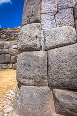 Some of the structures within Saqsaywaman archeological site.  You can see my smartphone as a reference of size.