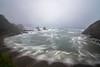 Atardecer entre niebla y lluvia. (Amparo Hervella) Tags: playadelsilencio asturias españa niebla nube cantábrico largaexposición d7000 nikon nikond7000 comunidadespañola