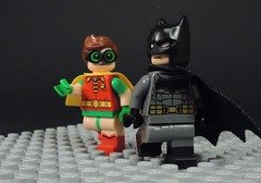 The Dark Knight and Robin (MrKjito) Tags: lego super heroes minifig robin batman dark knight carrie kelley returns bruce wayne earth 31 hero custom comics dc comic detective