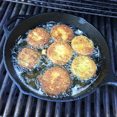 Green Tomatoes (Crawford Brian) Tags: fried green tomatoes ironskillet grill cooking food garden fall autumn midwest illinois homegrown