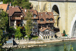 Houses at the Aare River