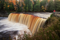 tahquamenon falls / the brink (twurdemann) Tags: autumn ephemeral fall2017 fallcolor fallcolour foliage forest fujixt1 hiawathanationalforest hoyandx64 landscape leaves longexposure lucecounty michigan michiganstatepark nature neutraldensityfilter northernmichigan october scenery statepark tahquamenonfalls tahquamenonriver tannin thebrink trees unitedstates upperpeninsula viveza water waterfall xf14mm