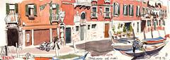 171009venezia05 (Vincent Desplanche) Tags: venise venezia sketching sketch croquis urbansketchers italia italy aquarelle watercolor matiteinviaggio seawhiteofbrighton seawhitesketchbook