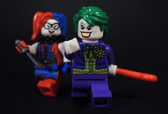 Mr.J & Harley (MrKjito) Tags: lego minifig super hero comics comic joker harley quinn villains gotham city batman detective dc crowbar