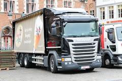 Scania G450 1HLZ145 Bruges Belgium (davidseall) Tags: scania g450 1hlz145 1 hlz 145 truck lorry rigid large heavy goods vehicle hgv lgv drey bruge brugge belgium vabis bruges