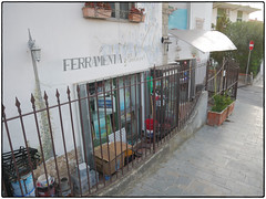 Ferramenta & Colori • Trompe-l'œil (/RealityScanner/) Tags: italien italy cilento santamaria town kleinstadt travel reise autumn herbst mediterranean panasonic lumix gx80 trompel'œil
