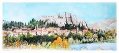 Sisteron - Provence Alpes Côte d'Azur - France (guymoll) Tags: sisteron france alpes provencealpescôtedazur croquis sketch aquarelle watercolour watercolor