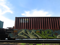 Nave (Railroad Rat) Tags: british colubia canada province moniker graffiti markal art culture freight railroad cn north west sea side weed old growth swampy rainforest hop hobo jungle catch intermodal 48 bucket caddy steel all colours beautiful ramble