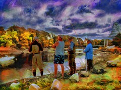 Enjoying the Nice Weather (Rusty Russ) Tags: fishing new england fall autumn trees color cool days river colorful day digital graffiti window flickr country bright happy colour eos scenic america world sunset beach water sky red nature blue white tree green art light sun cloud park landscape summer city yellow people old photoshop google bing yahoo stumbleupon getty national geographic creative composite manipulation hue pinterest blog twitter comons wiki pixel artistic topaz filter on1