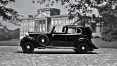 The Rolls is Ready. (ManOfYorkshire) Tags: rollsroyce phantom3 phantom landaulet black detail detailed model scale 176 oogauge oxforddiecast diecast new diorama countryhouse estate sedanca deville mulliner 1930s tyj716