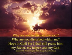 Psalm 43:5 why are you in despair - hope in God (Martin LaBar) Tags: poster psalm psalm435 hope sunlight clouds ocean light