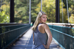 Lexi: Are you speaking to me?? People (c.m.sturgeon) Tags: 500px portrait bridge canon blonde girl over shoulder tank top cmsturgeon whitewater center