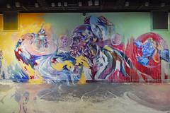 Tea Break (HBA_JIJO) Tags: streetart urban graffiti paris art france artist hbajijo wall mur painting aerosol peinture portrait murale spray mural bombing urbain rehab rehab2 meh