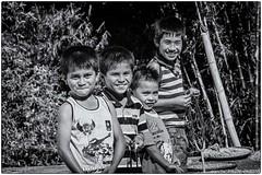 Portrait # 6 (bertranddorel) Tags: noiretblanc kids enfants bw blackandwhite children indonésie sulawésie toraja people
