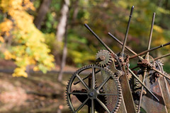 Nature & Industry (The Flying Inn) Tags: delaware hagleymuseum iron powdermills trees wilmington autumn bokeh dupont fall gears machinery metal october outoffocus