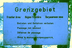 Slide 105-62 (Steve Guess) Tags: germany deutschland allemagne германия ost east sign boarder frontier region grenzgebiet