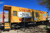 Union Pacific Caboose (Walt Barnes) Tags: caboose westernpacific canon eos 60d eos60d canoneos60d wdbones99 topazsoftware pse15 nevadastaterailroadmuseum nevadasouthernrailway track trackside rail railroad museum bouldercity nevada