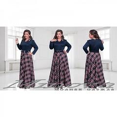 Платье Инесса темно-синий+клетка (arrkareeta) Tags: одежда платье dress woman 2016 2012