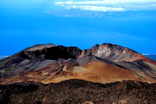 Pico viejo of the Teide Volcan and La Gomera island