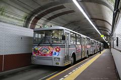 Kanden trolleybus (Maurits van den Toorn) Tags: bus trolleybus japan nippon kanden japanesealps tunnel underground ondergronds untergrund