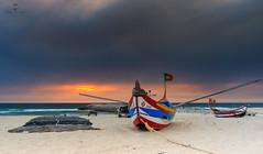 LAN0147 (pixFINEART) Tags: espinho portugal porto aveiro boat boats sand beach sea seascape seawall fishing