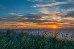 DUCK HARBOR WELLFLEET (jlucierphoto) Tags: sky sunset capecod duckharbor grass wellfleet massachusetts ocean sea water autumn