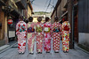 Six Little Maids From School Are We (andyrousephotography) Tags: japan kyoto gion district streets geisha kimono costume dress fashion chanceencounter porkypie talltales andyrouse canon eos 5d3 5dmkiii ef24105mmf4l