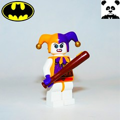 29 - Harley Quinn (Random_Panda) Tags: lego figs fig figures figure minifigs minifig minifigures minifigure purist purists character characters film films movie movies television tv comics superhero superheroes hero heroes super comic book books show shows dc villains toy batman superman wonder woman aquaman green lantern the flash rogues cartoon villain harley quinn harleen quinzel gotham arkham asylum