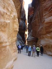 Petra - Al Siq -Tourists