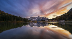 Time to reflect (tms\) Tags: reflections colours sky sunset lago misurina dolomites mountains lake purple water