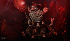 You can not escape it. (MonaSax95 Resident) Tags: sl secondlife it virtual avatar horror creepy photo shot pic clown monster photographer photograpy