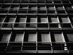 2017-11-07_05-34-51 (georgekells) Tags: architecture building structure linear squres angles perspective windows glass metal rails concrete modern offices blackandwhite monochrome uncropped contrast texture shadow atmospheric bleak stark city street urban belfast northernireland