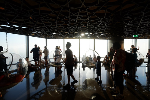 People Silhouette at Observation Deck, Burj Khalifa