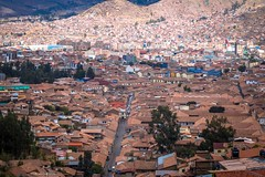Cusco has few narrow streets and blocks upon blocks of houses and buildings.